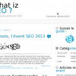 Création et optimisation du blog Whatizseo